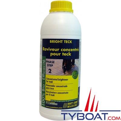 Matt Chem Marine - BRIGHT TECK - Raviveur concentré pour teck et bois exotiques - 1 litre
