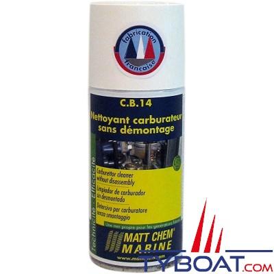 Matt Chem Marine - C.B.14 - Nettoyant carburateur sans démontage - Aérosol 150 ml