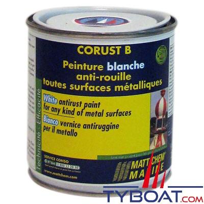 Matt Chem Marine - CORUST - Peinture brillante anti-rouille - Blanc - 250 ml