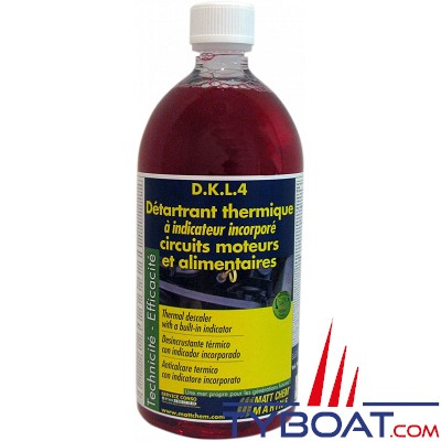 MATT CHEM MARINE - D.K.L.4 - Détartrant thermique à indicateur incorporé - 1 litre