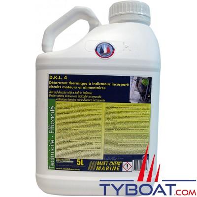 Matt Chem Marine - D.K.L.4 - Détartrant thermique à indicateur incorporé - 5 litres