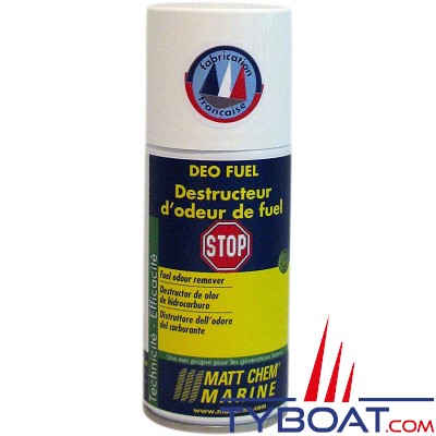 Matt Chem Marine - DEO FUEL - Destructeur d'odeur de fuel - Aérosol 150 ml
