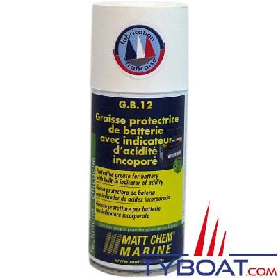 Matt Chem Marine - G.B.12 - Graisse protectrice de batterie avec indicateur incorporé - Aérosol 150 ml