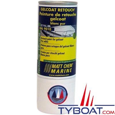 Matt Chem Marine - GELCOAT RETOUCH' - Peinture de retouche pour gelcoat - Blanc crème - RAL 9001 - 150ml