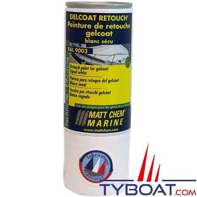 Matt Chem Marine - GELCOAT RETOUCH' - Peinture de retouche pour gelcoat - Blanc Sécu - RAL 9003 - 150ml