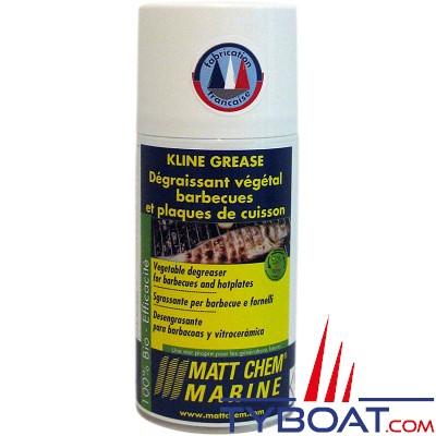Matt Chem Marine - KLIN GREASE - Dégraissant barbecues et plaques de cuisson - Aérosol 300 ml