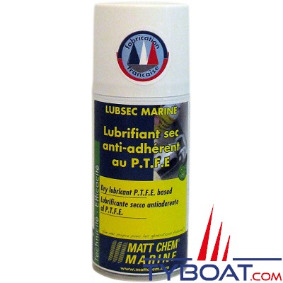 Matt Chem Marine - LUBSEC MARINE - Lubrifiant sec anti-adhérent au P.T.F.E - Aérosol 150 ml