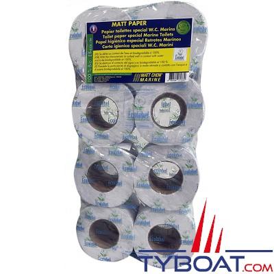 Matt Chem Marine - MATT PAPER - Papier toilette double épaisseur 100% biodégradable - 8 rouleaux
