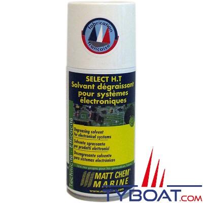 Matt Chem Marine - SELECT .H.T. - Solvant dégraissant diélectrique - Aérosol 150 ml