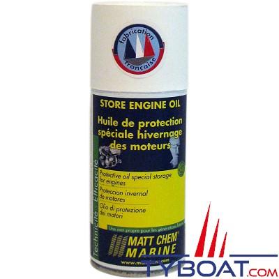 Matt Chem Marine - STOP ENGINE OIL - Huile de protection hivernage des parties internes du moteur H.B - 150 ml