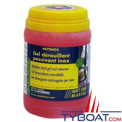 MATT CHEM - NETTINOX - Gel dérouillant nettoyant passivant inox - 300gr