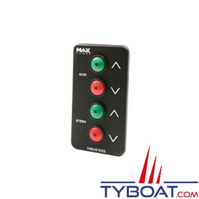 MAX POWER - Panneau de contrôle double pour propulseur - noir