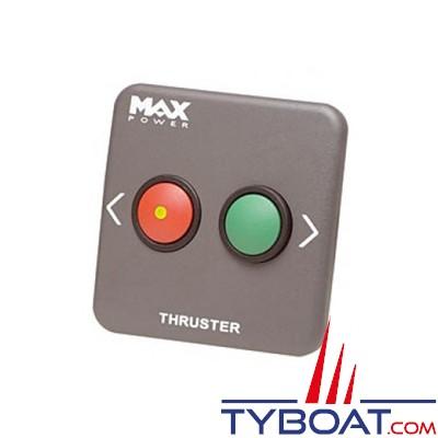 MAX POWER - Panneau de contrôle simple pour propulseur tunnel - gris