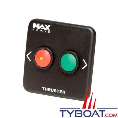MAX POWER - Panneau de contrôle simple pour propulseur tunnel - noir