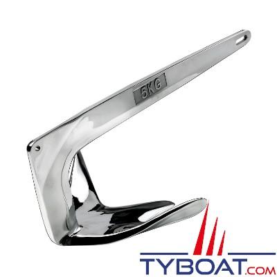 Maxwell - Ancre Maxclaw acier inoxydable - 5 Kg - Pour bateaux de 4 à 6 mètres