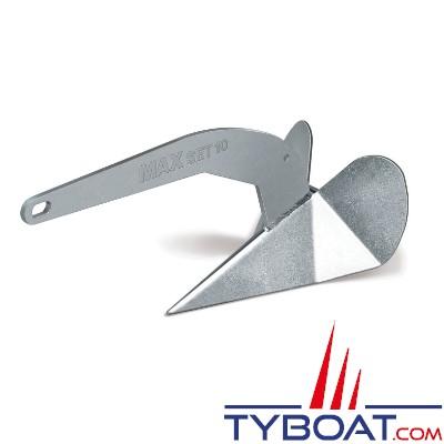 Maxwell - Ancre Maxset Galvanisée - 10 Kg - Pour bateaux de 6 à 9 mètres