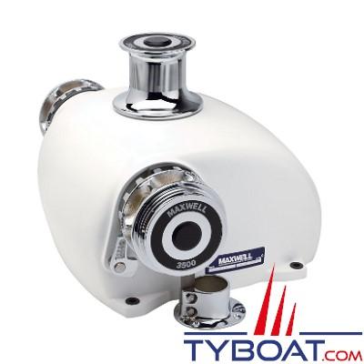 Maxwell - Guindeau horizontal 3500HWC - Hydraulique - Barbotin pour chaine Ø 8-13mm - avec poupée