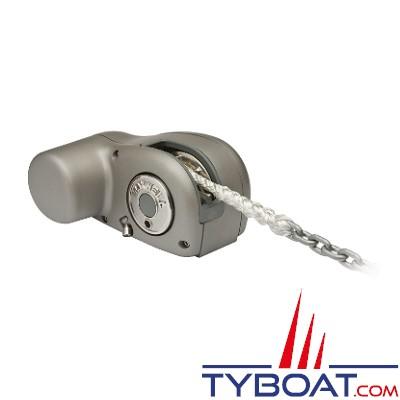 Maxwell - Guindeau  horizontal compact - 600 Watts - 12 Volts - Barbotin pour chaine Ø 7mm - cordage Ø 12mm - sans poupée