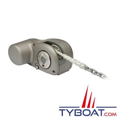 Maxwell - Guindeau  horizontal compact - 600 Watts - 12/24 Volts - Barbotin pour chaine Ø 8mm - cordage Ø 12mm - sans poupée