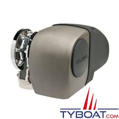 Maxwell - Guindeau horizontal mixte - 1000 Watts - 12 Volts - Barbotin pour chaine de 8mm - Cordage 14mm - sans poupée