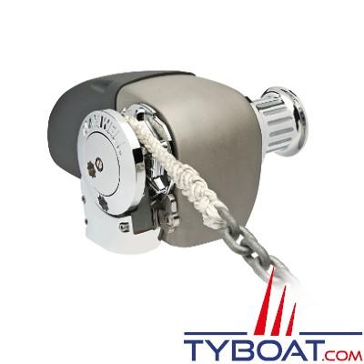 Maxwell - Guindeau horizontal mixte - 1200 Watts - 12 Volts - Barbotin pour chaine de 10mm - Cordage 16mm - avec poupée