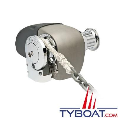 Maxwell - Guindeau horizontal mixte - 1200 Watts - 24 Volts - Barbotin pour chaine de 10mm - Cordage 16mm - avec poupée