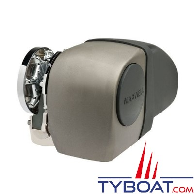 Maxwell - Guindeau horizontal mixte - 1200 Watts - 24 Volts - Barbotin pour chaine de 10mm - Cordage 16mm - sans poupée