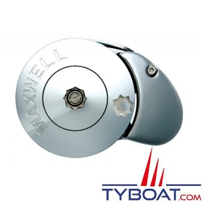 Maxwell - Guindeau vertical RC8-6 - 600 Watts - 12 Volts - Barbotin pour chaîne Ø 6mm - Cordage Ø 12mm - sans poupée