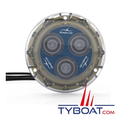 Bluefin Led - Piranha P3 - Lampe LED sous-marine à montage en surface - 1500 lumens - 12V - Bleu saphir