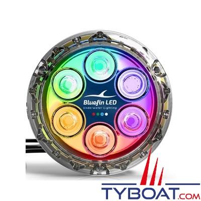 Bluefin Led - Piranha P6 - Lampe LED sous-marine à montage en surface - 2700 lumens - Colour change - 12/24V