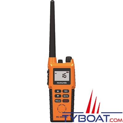 Mc Murdo - R5 - VHF portable SMDSM - Pack Batterie lithium et chargeur
