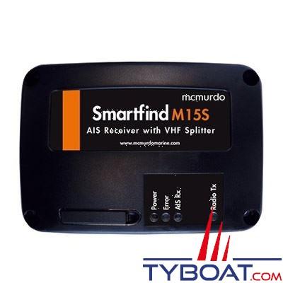 Récepteur AIS MC Murdo SmartFind M15-S avec splitter VHF intégré - interface NMEA0183 / USB