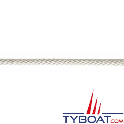 Meyer-Sansboeuf - Tresse hélicoidale Heli en polyester multifilaments 12 fuseaux haute ténacité Ø 2.5mm - Blanc - 100 mètres