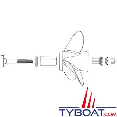 Kit moyeu pour hélice MICHIGAN MWC 120 XHS