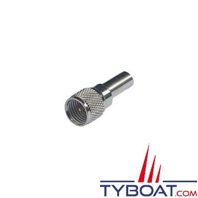Mini connecteur RA157 Glomex mâle UHF pour RG58C/U