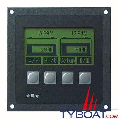Philippi - Moniteur jauge de batteries BCM 2 12-24volts 2 batteries