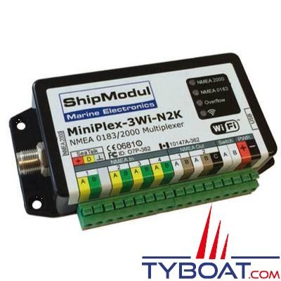 SHIPMODUL - Multiplexeur MiniPlex-3Wi-N2K - NMEA2000 / NMEA0183 / WIFI / USB - 4 entrées / 2 sorties