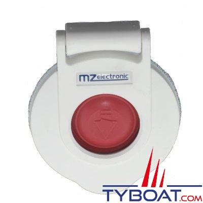 Contacteur à pied pour guindeau - MZ Electronic - descente - blanc