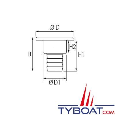 Nable aluminium plastimo eau pour tuyau 38 mm bouchon plastique plastimo - Bouchon pour tuyau d eau ...