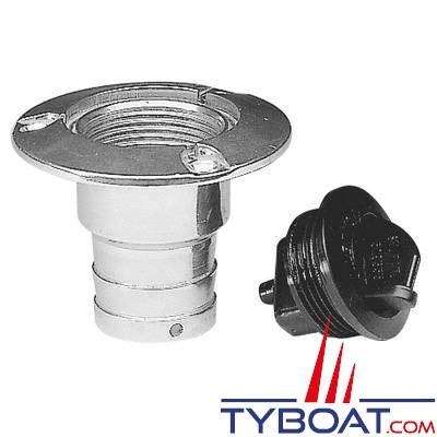Nable aluminium Plastimo EAUX NOIRES pour tuyau Ø 38 mm + bouchon plastique