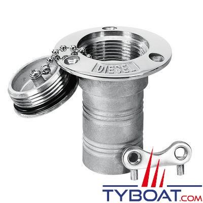 Nable inox 316 Plastimo DIESEL pour tuyau Ø 38 mm + bouchon inox