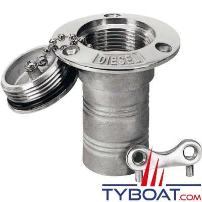 Nable inox 316 Plastimo ESSENCE pour tuyau Ø 38 mm + bouchon inox