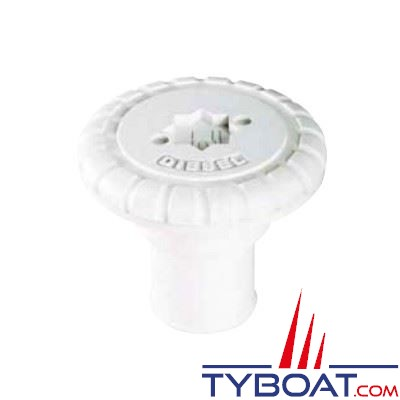 Nable polyamide Plastimo EAU pour tuyau Ø 38 mm + bouchon polyamide - blanc