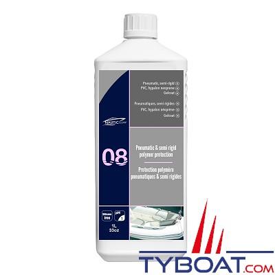 Nautic-Clean - 08 - Protection polymère pour pneumatiques et semi rigides - 1 Litre