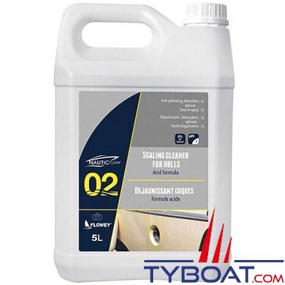 NAUTIC CLEAN - Déjaunissant coques - bidon 5 litres.