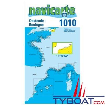 Navicarte n°1010 - Ostende, Boulogne, Pas-de-Calais - carte simple