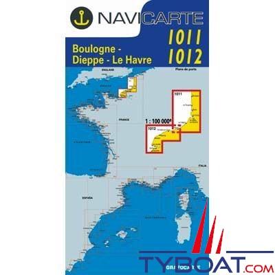 Navicarte n°1011 et n°1012 - Boulogne, Dieppe, le Havre - carte double