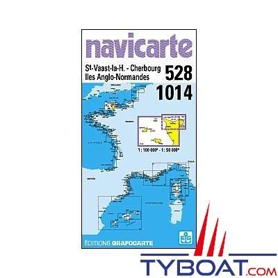 Navicarte n°1014 et n°528 - St Vaast la Hougue, îles anglo-normandes - carte double