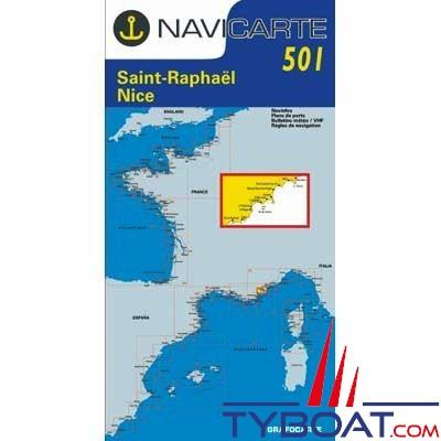 Navicarte n°501 - Saint Raphaël, Nice, Iles de Lérins - carte simple