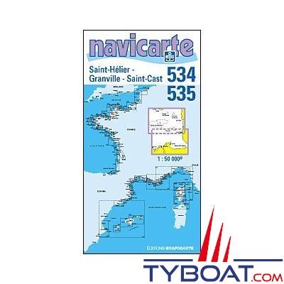 Navicarte n°534 et n°535 - Saint Hélier, Saint Cast - carte double